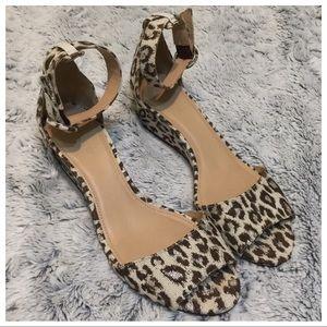 J Crew LAILA Leopard print Wedges Shoes Sz 8